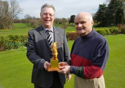 2016 - Winners of the John Lattey Trophy, Dick Birkin and Richard Lea with the Gnome Trophy.