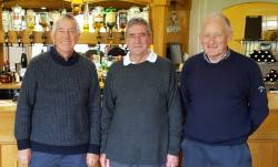2016 - Winners of the Senior Texas Scramble included Vice Capt, Terry Hanley, Peter Harrison and Neil Brenton with 64 points. They received their prize from John Molesworth, in the absence of Capt. Brian Warren.