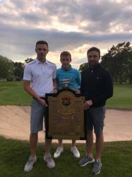 (LtoR)Liam Phipps, Joe Macilwraith & Mike Pell -  WUGC Mens Team Amateur Champions 2019