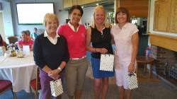 Winners with Lady Captain: LtoR Norma Young, Christina Kennedy, Alison Isaacs and Judy Turner