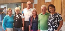 Winning team Julie Ford, Graham Ford, Avril Chambers & John Chambers with Mary O'Neil & the Lady Captain Christina Kennedy